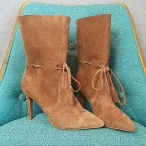 French Connection Rowdy Suede Tie Boot